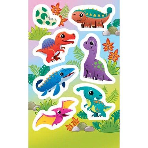 Наклейки 0-11-369А Динозаврики