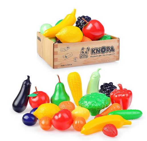 Набор продуктов Овощи и фрукты в ящике KNOPA