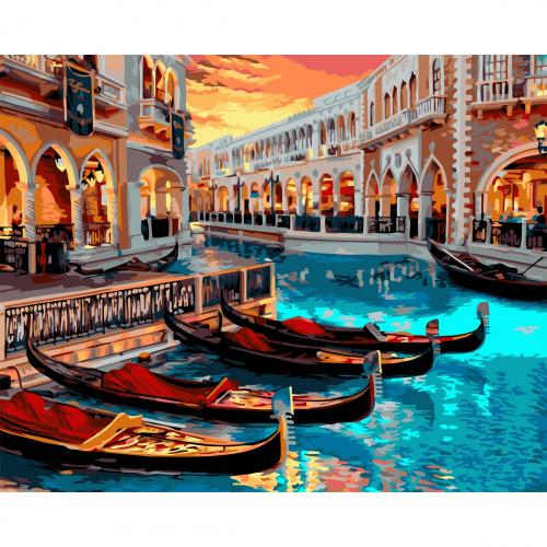 Творч Рисование по номерам 40Х50 Венеция