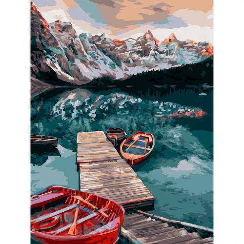 Творч Рисование по номерам 40Х50 Тихое озеро