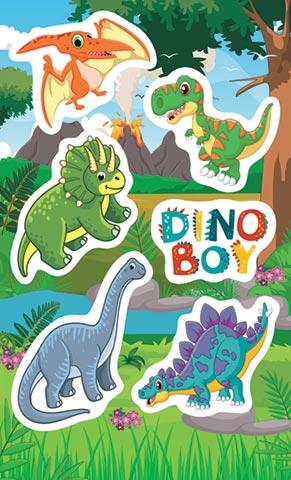Наклейки 0-11-366А Динозаврики Dinoboy
