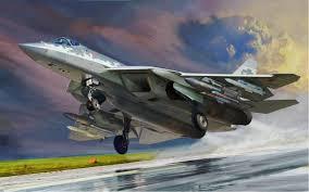 Сборная модель Российский истребитель Су-57 1/48