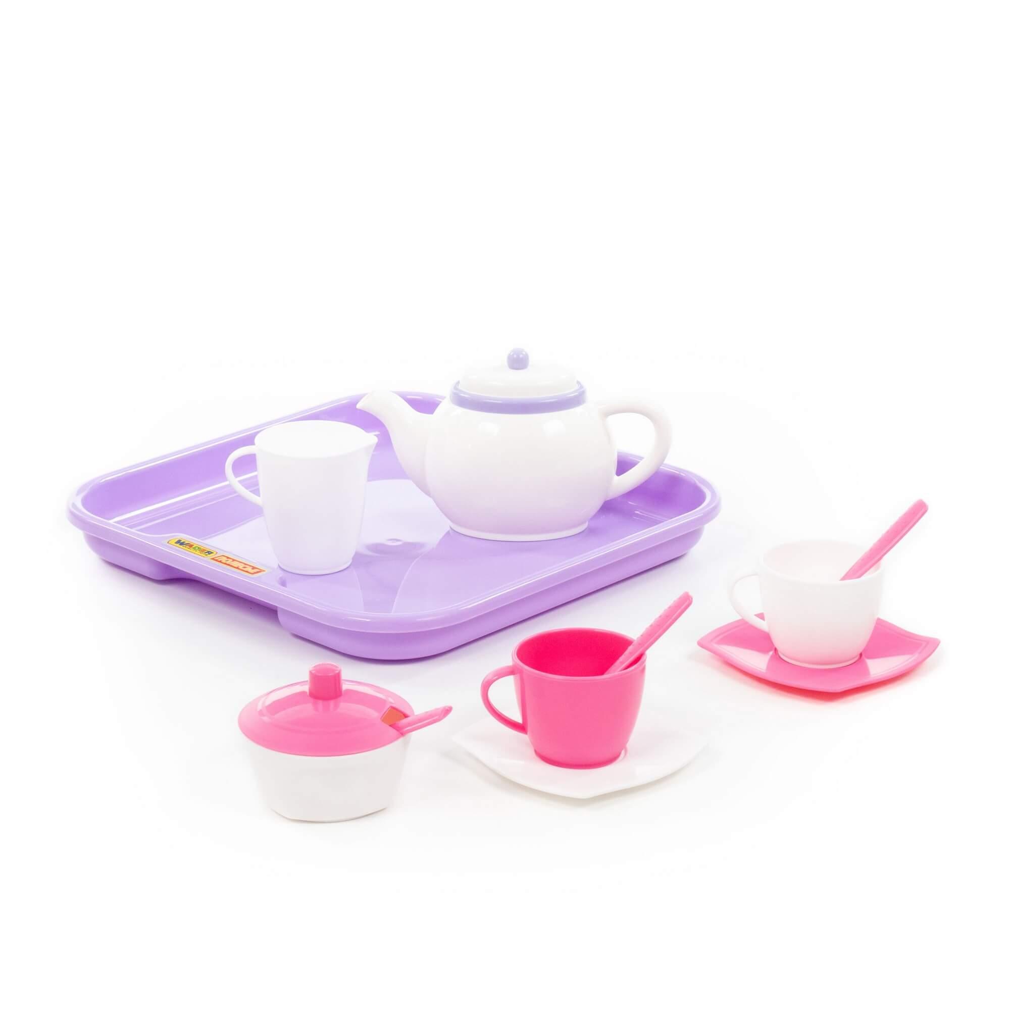 """Набор посуды """"Алиса"""" с подносом на 2 персоны (13 элементов)"""