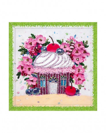 Творч Мозаика из пайеток 30*30 Вишневый десерт