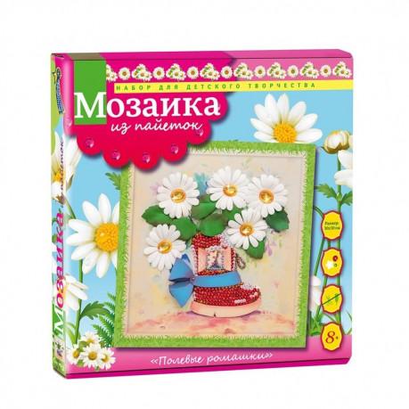 Творч Мозаика из пайеток 30*30 Полевые ромашки