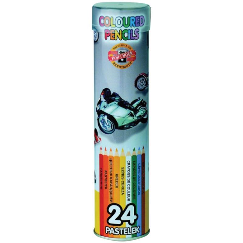 Карандаши цветные 24 цв K-I-N La Paloma мет пенал
