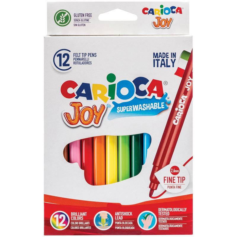 Фломастеры 12 цв Carioca Joy в к/к