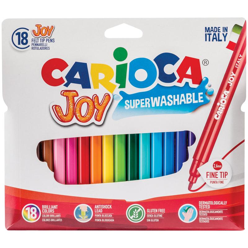 Фломастеры 18 цв Carioca Joy смывающ. пл/уп