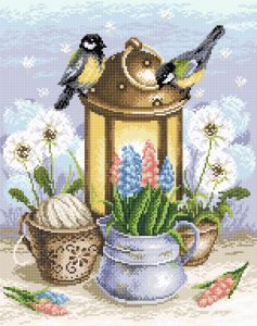 Творч Картина стразами 38х48 Искра весны