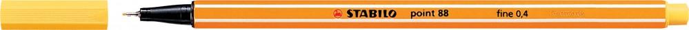 Ручка капиллярная STABILO Point 0.4 желтая