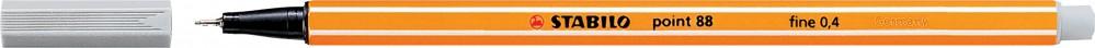 Ручка капиллярная STABILO Point 0.4 серая светлая