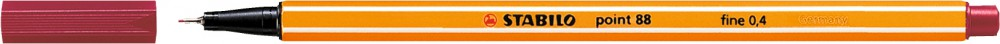 Ручка капиллярная STABILO Point 0.4 красная темная
