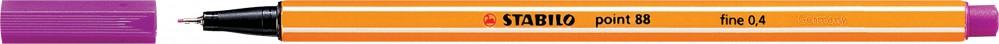 Ручка капиллярная STABILO Point 0.4 сиреневая