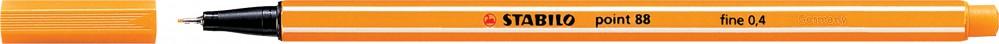 Ручка капиллярная STABILO Point 0.4 оранжевая