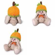 Мягконабивная BUDI BASA Зайка Ми в шапке мандарин (малыш) 15см