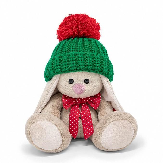 Мягконабивная BUDI BASA Зайка Ми в зеленой шапке (малыш) 15см