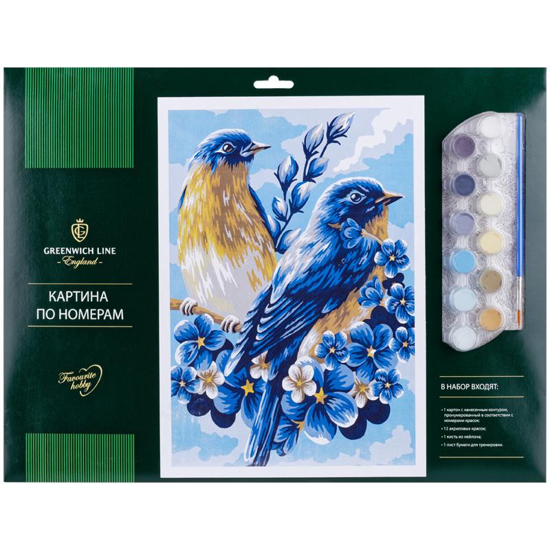 Творч Картина по номерам А3 Весенние птицы
