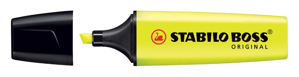 Маркер-выделитель желтый Stabilo Boss