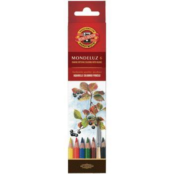Карандаши цветные 6 цв K-I-N Mondeluz акварельные