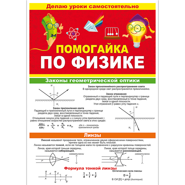 Помогайка по физике А5 буклет