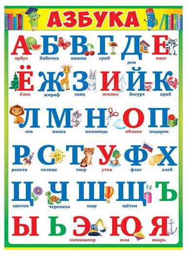 Плакат Азбука А2 вертик карандаши