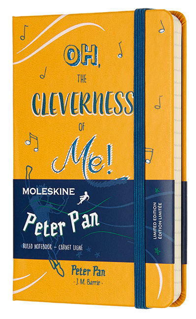 Блокнот А6 192л Moleskine Limited Edition Питер Пен желтый