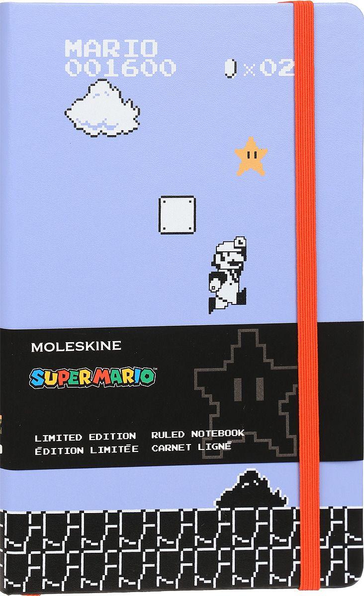 Блокнот А5 240л Moleskine Limited Edition Super Mario сиреневый