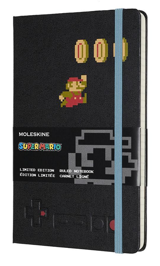 Блокнот А5 240л Moleskine Limited Edition Super Mario черный