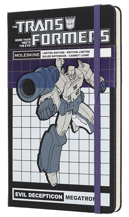 Блокнот А5 240л Moleskine Limited Edition Трансформеры черный