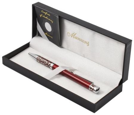 Ручка подар. Marinella шариковая корп:красный футляр кож/зам