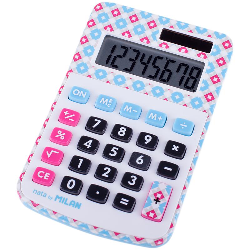 Калькулятор 8 разр. Milan настольный в клеточку