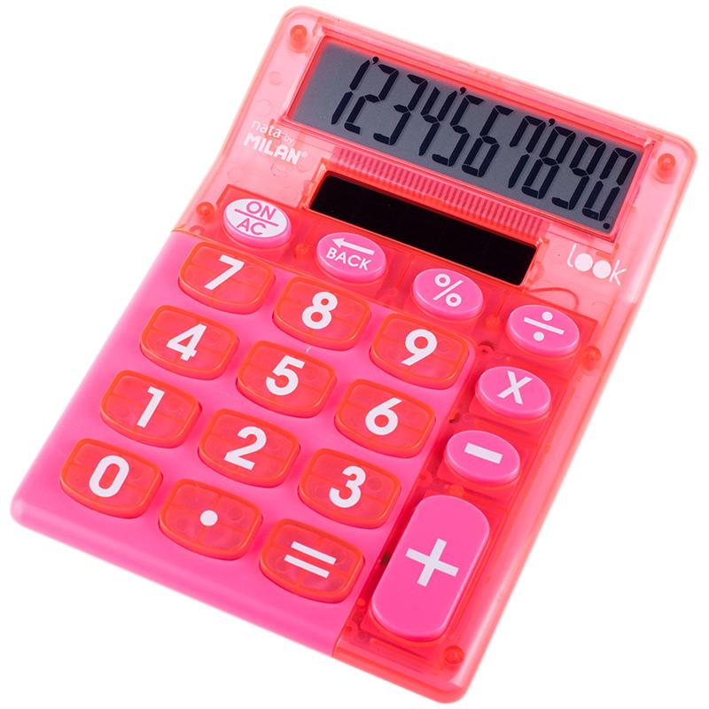Калькулятор 10 разр Milan настольный красн прозрач