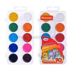 Краски 10цв Мультики б/к пл/уп пластик