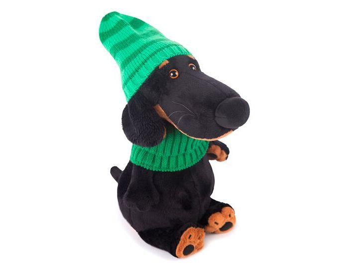 Мягконабивная BUDI BASA Ваксон в зеленой шапке и шарфе 25см