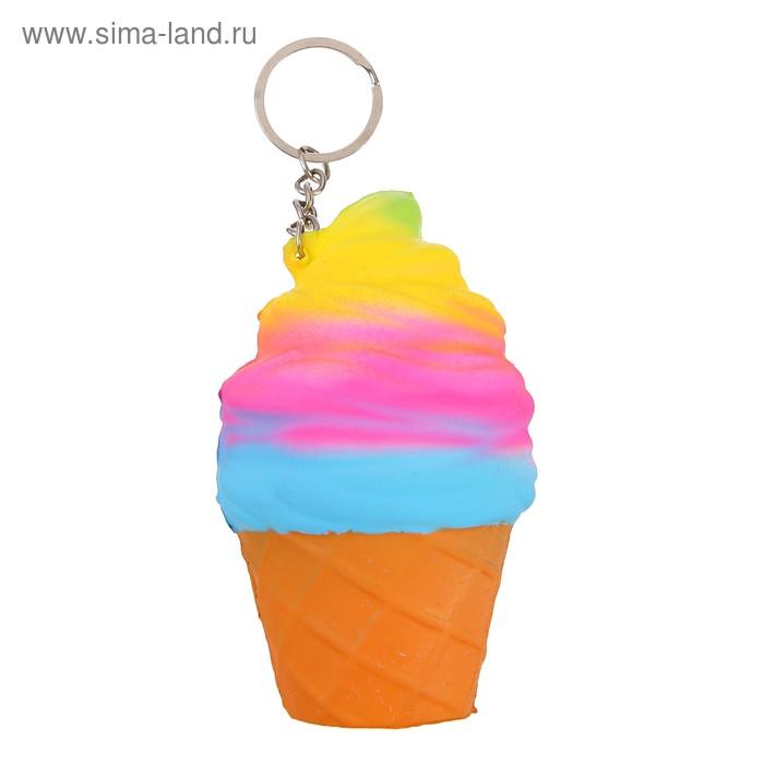 Мялка сквиши Мороженое, на брелоке