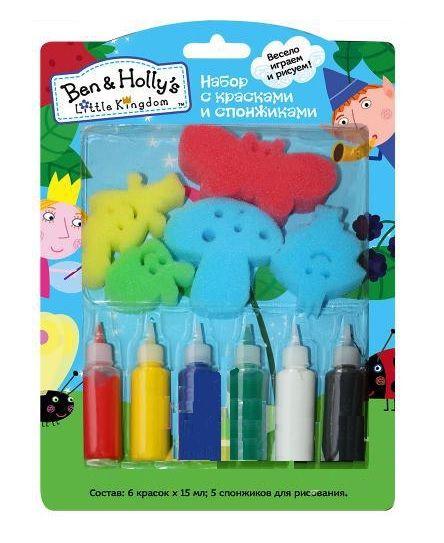 Творч Набор со спонжиками и красками Бен и Холли