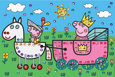 Творч Рисуем на холсте 20*30 Королевская карета стразы