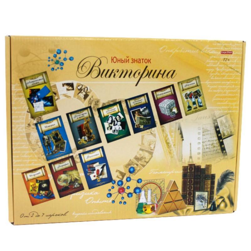 Настольная Викторина Юный знаток 108 карточек