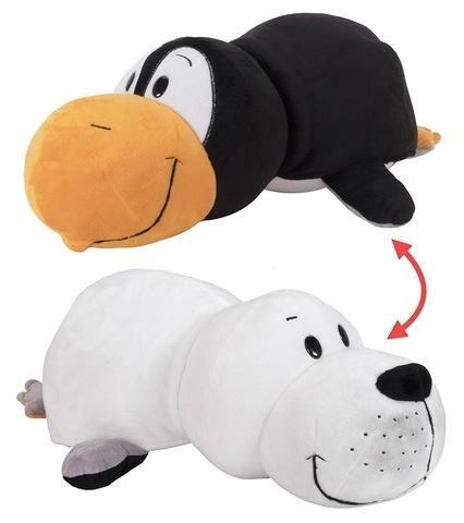 Мягконабивная Вывернушка 2в1 20см Пингвин - Морской котик плюш.