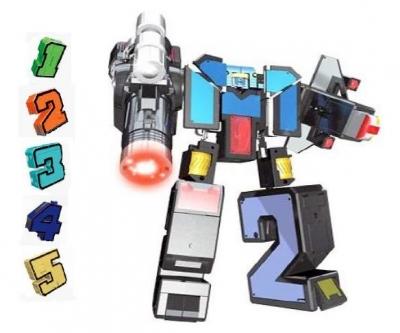 """Трансформер Трансбот XL """"Боевой расчет ВКС"""" (цифры от 1-5, размер 10 см"""