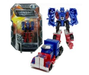 Робот-трансформер Звёздный защитник собирается в грузовик 9см