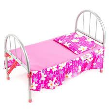 Кроватка для кукол Карапуз металл. подушка, матрас