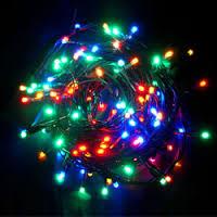 НГ Гирлянда электрическая Дед Мороз у Елки 33*33,5см 35 ламп 1,5м провод