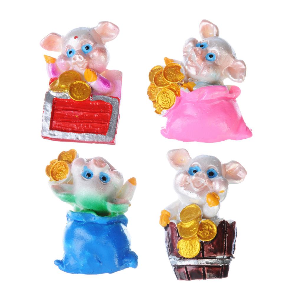 НГ Магнит Свинка с монетками 4 дизайна