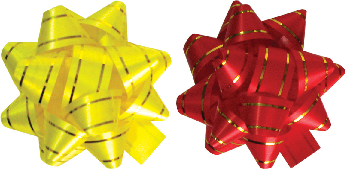 Праз Бант самокл. Звезда желтый, красный ПОШТУЧНО!