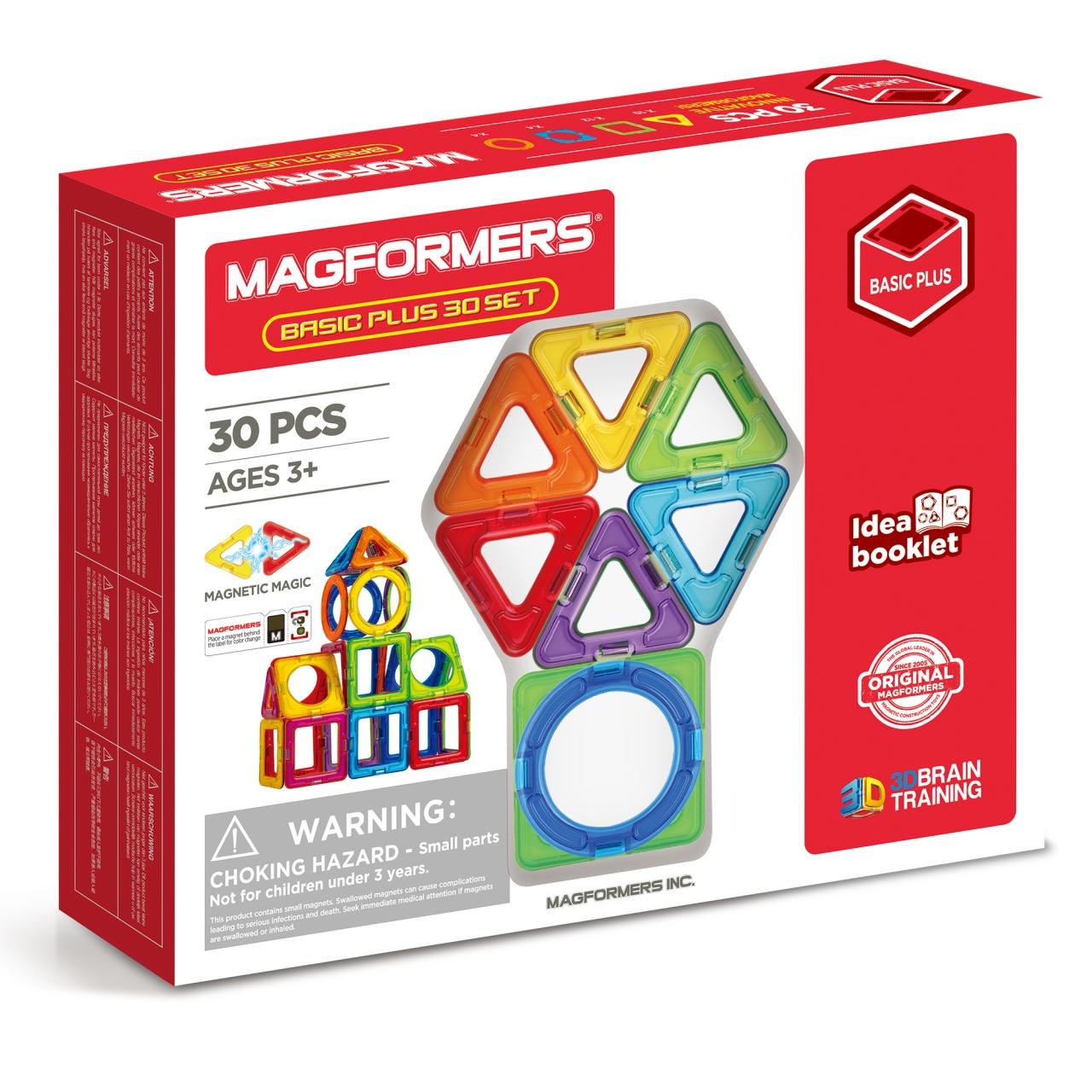 Конструктор магнитный Магформерс 30 дет. Basic Plus