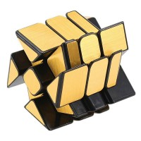 Головоломка Кубик зеркальный Колесо золото