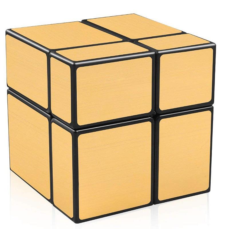 Игра Головоломка Кубик зеркальный 2Х2 золото