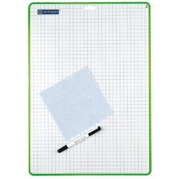 Доска маркерная А3 двусторонняя маркер + тряпка