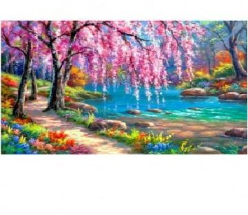 Творч Алмазная мозаика 20*30 На берегу реки